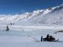 Kirguistan moto de nieve