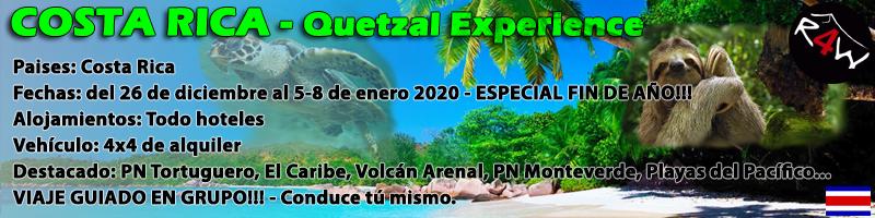 VIAJE COSTA RICA SELF-DRIVE – 13 días – Quetzal Experience