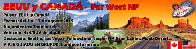 VIAJE EEUU Y CANADÁ 2019,  Far West NP