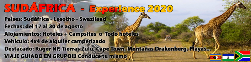 VIAJE SUDÁFRICA, EXPERIENCE 2019
