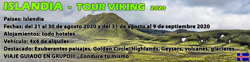 VIAJE ISLANDIA, TOUR VIKING 2020