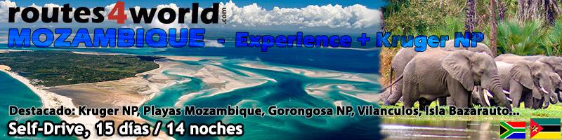 VIAJE MOZAMBIQUE SELF DRIVE – 15 días  – Experience + Kruger NP