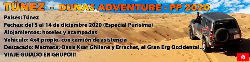 VIAJE TÚNEZ 4X4, Dunas Adventure PP2020