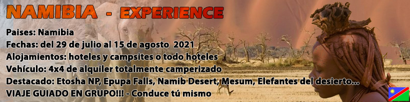 Viaje Namibia 4x4 2021