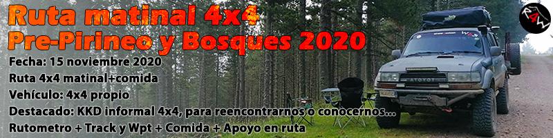 RUTA MATINAL 4×4 – Pre-Pirineo y Bosques 2020