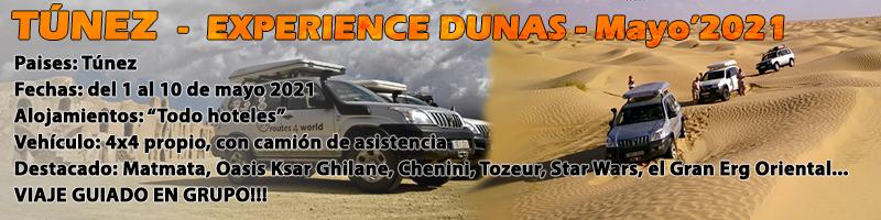 Viaje Tunez 4x4 Experience Dunas