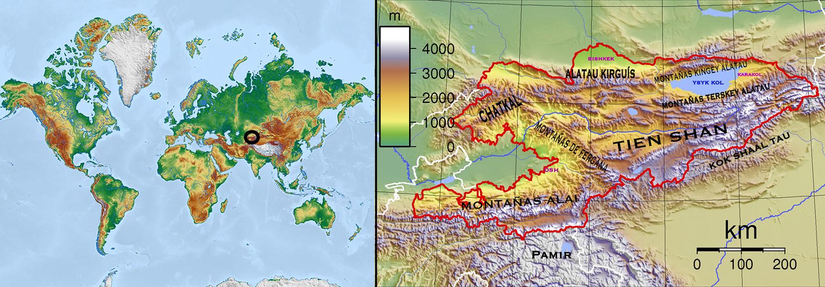 Mapa Kirguistan web-R4W