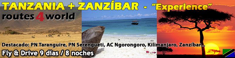 Viaje Tanzania Zanzíbar fly & drive 9 días