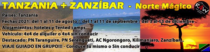 Viaje Tanzania y zanzibar 2021