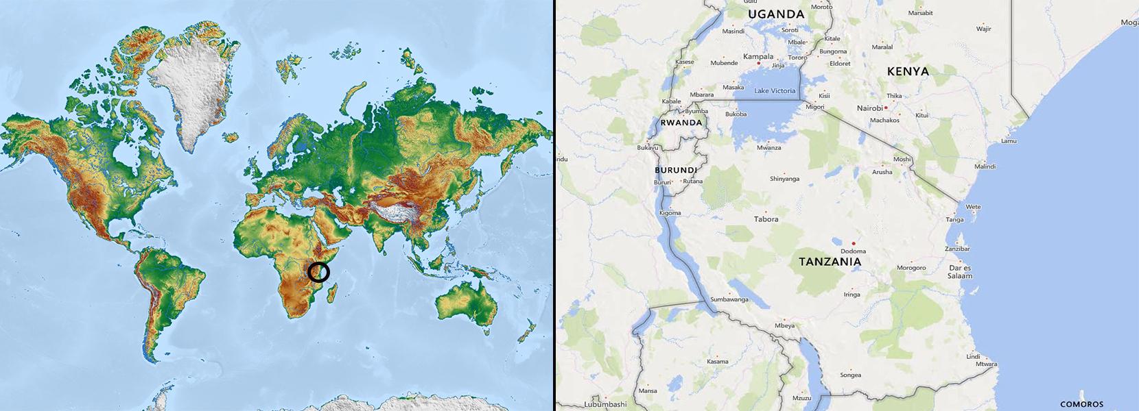 Mapa Tanzania-R4W